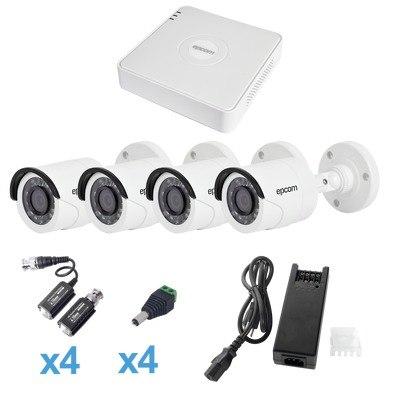 Kit Turbohd 720p/ Dvr 4ch 4 Camaras Balas Kestxlt4bw en Web Electro