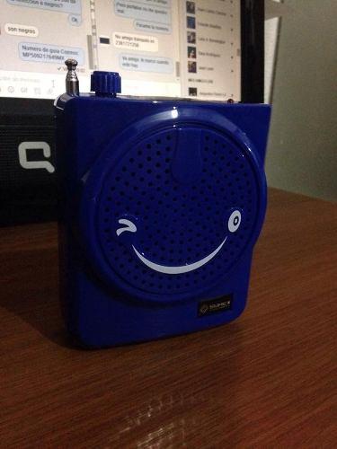 Megafono Altavoz Multifun Fm Microsd Usb Microfono Radio Aux en Web Electro