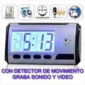 Micro Camara Espia Reloj Despertador Cctv Control Remoto Hd en Web Electro