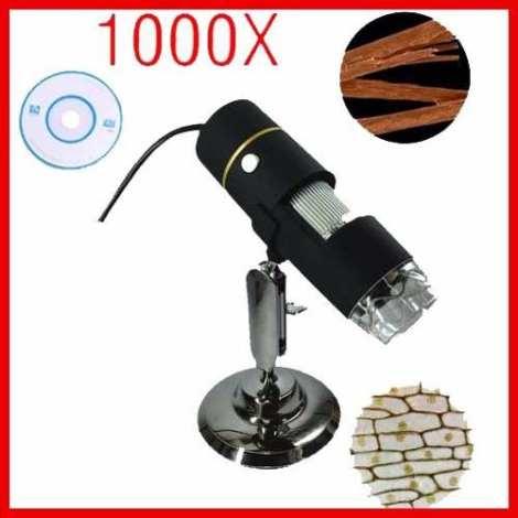 Microscopio Digital Usb 1000x Zoom Optico Camara 8 Luz Led en Web Electro