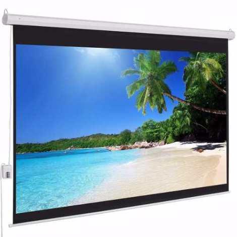Pantalla Proyección Eléctrica Proyector 120 100 16:9 4:3 en Web Electro