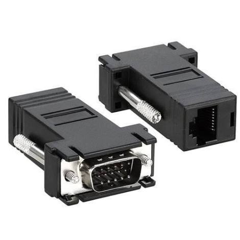 Par Convertidor Video Vga Rj45 Cat5 Red Utp Adaptador en Web Electro