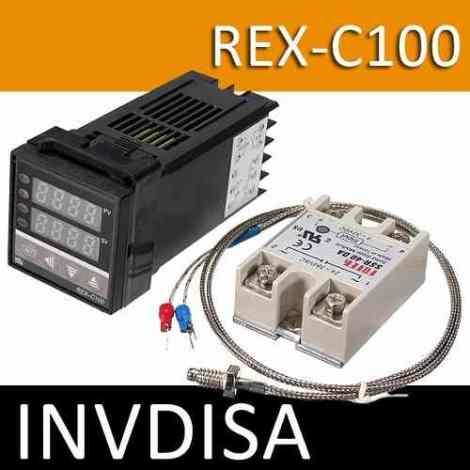 Pirómetro Digital Control De Temperatura Pid Rex-c100 en Web Electro