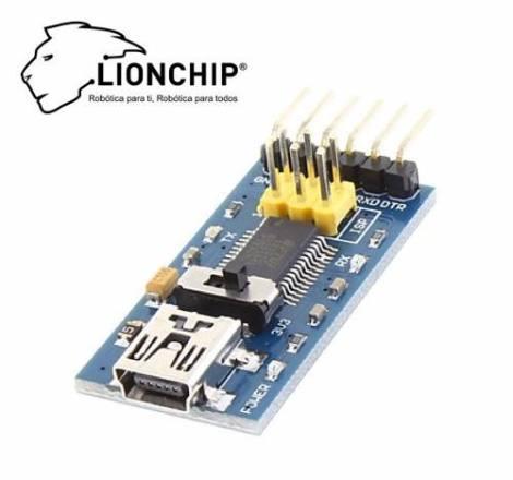 Programador Ftdi Para Arduino Ft 232  Ft232 Lionchip en Web Electro