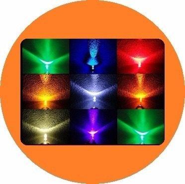 1000 Led Ultrabrillante De 5mm:__colores Variados en Web Electro