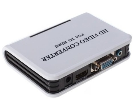 Adaptador Convertidor Vga A Hdmi 1080p Audio Video +regalos