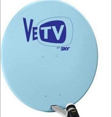 Antena Satelital Azul Vetv Y Sky Gris Nueva Completa Con Lnb en Web Electro