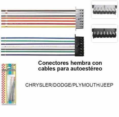 Arnés Dxr Autoestéreo Chrysler Dodge Jeep Plymouth Envio Hoy en Web Electro