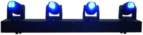 Barra 4 Cabezas Moviles Mini Beam Led Luz Disco 4x10w Rgbw en Web Electro