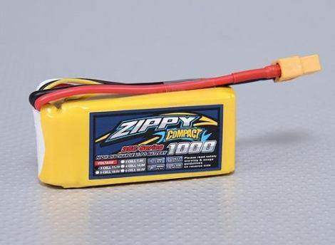 Bateria Lipo 1000mah 11.1v 3s Recargable 35c Zippy Compact