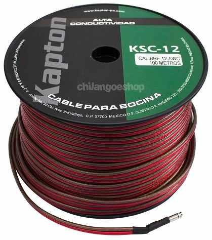 Cable Para Bocina Uso Rudo Polarizado Calibre 12 100 Mts