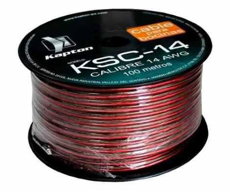 Cable Para Bocina Uso Rudo Polarizado Calibre 14 100 Mts