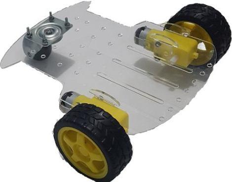 Chasis Carro Robot Acrilico Para Seguidor Lineas Arduino