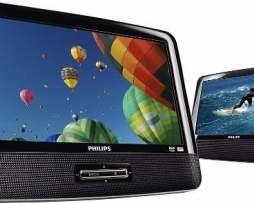 Combo Dvd Portatil Philips Pantalla 9 Para Cabecera De Autos en Web Electro