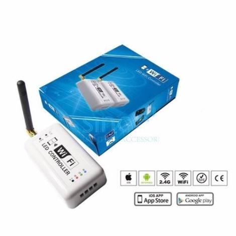 Controlador Wifi Para Tira Y Modulo Led Rgb Android Y Iphone en Web Electro
