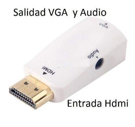 Convertidor De Hdmi A Vga Y Audio en Web Electro