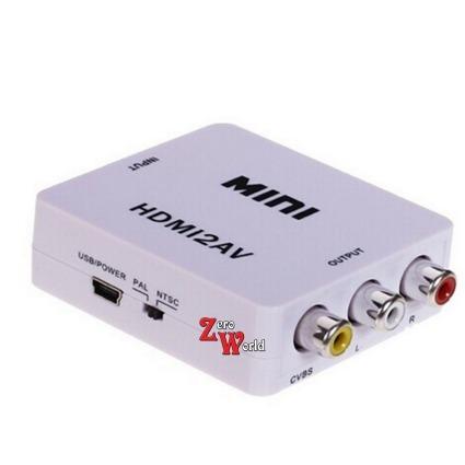 Convertidor Hdmi A Rca Audio Y Video Entrada 1080p S 480p