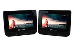 Dvd + Monitor 7 Pulg Para Cabecera De Auto Correa Ajustable
