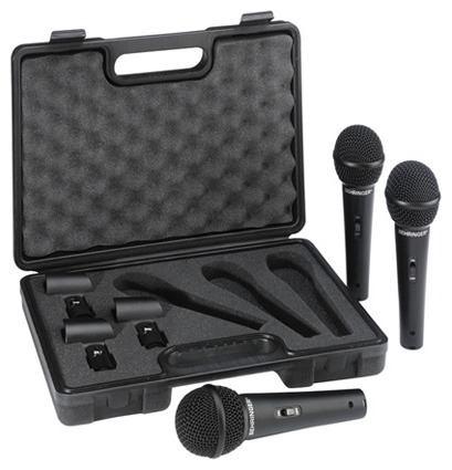Juego De 3 Microfonos Con Estuche Behringer Xm1800s Pro