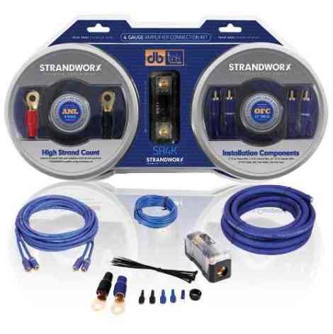 Kit De Instalacion Cables Calibre 4 Db Link 1200w Sr4k Cobre