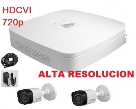 Kit Hdcvi 720p Dvr Y 2 Camaras Ir Dahua Cctv Videovigilancia en Web Electro