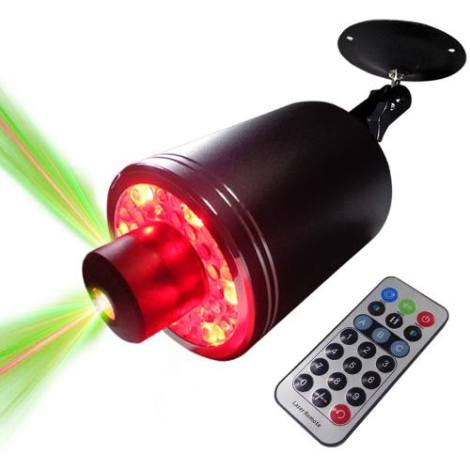 Laser Led Disco Audioritmica Dj Control Giro 360 en Web Electro