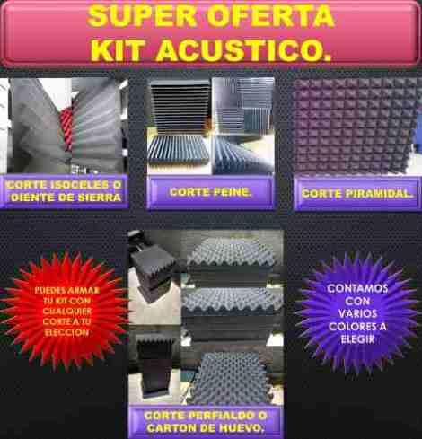 Material Acustico  Kit 45pz  + 2 Bass Trap Completos en Web Electro