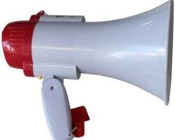 Megáfono Con Grabador Reproductor Y Sirena