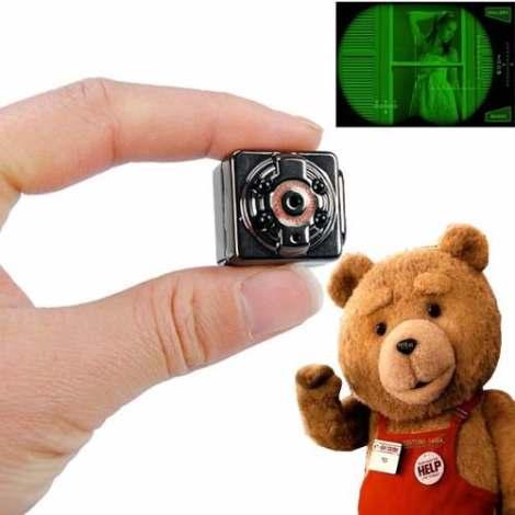 Mini Camara Espia Vision Nocturna Sensor Movimiento Full Hd en Web Electro