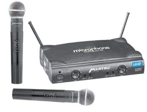 Par De Microfonos Inalambricos Uhf Hasta 100m Con Estuche en Web Electro
