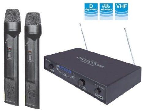 Par De Microfonos Inalambrico Dimamicos Hasta 50m Karaoke en Web Electro
