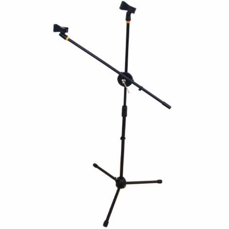 Pedestal Para 2 Microfonos Profesional Con Boom Y Tripie en Web Electro