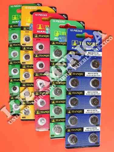 Pila Bateria Ag1/lr621 Ag3/lr41 Ag4/lr626 Ag10/lr1130 Lr44