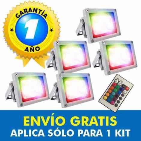Reflector Led Rgb 10w Multicolor Con Control X5 Promoción en Web Electro