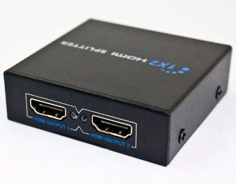 Splitter Hdmi 1*2 Divisor De Señal Amplificador Conecta 2 Tv en Web Electro