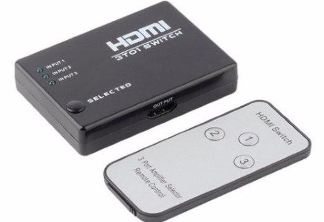 Switch Selector Hdmi Audio Video 3 Entradas Control Remoto en Web Electro