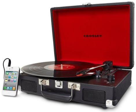 Tornamesa Crosley Tocadiscos De Vinyl Tipo Maletín Negro en Web Electro