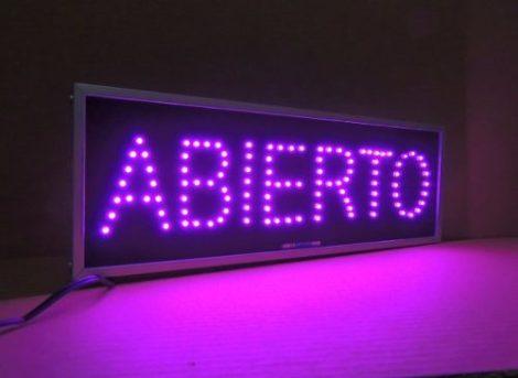 Anuncio Led Abierto/letrero Led Para Negocio Abierto Colores