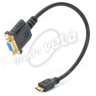 Aptador Cable Mini Hdmi Macho A Vga 15 Pines Hembra Tablet en Web Electro