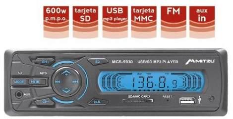 Autoestereo Digital Fm Usb Sd Mmc Mp3 Entrada Auxiliar en Web Electro