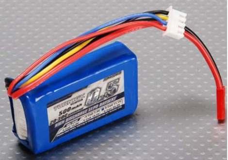 Bateria Pila Lipo 500mah 11.1v 3s 20c Turnigy en Web Electro