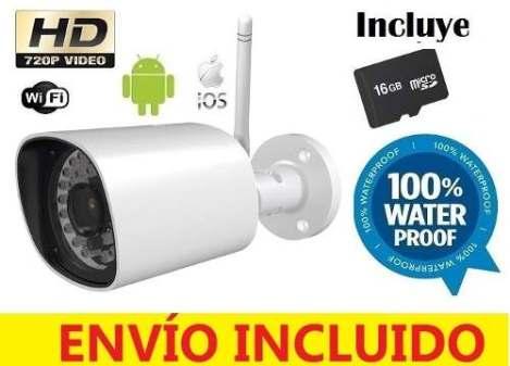 Cámara Ip Exterior Wifi Hd 720p Contra Agua Android/ios 64gb en Web Electro