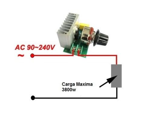 Controlador Dimmer Tarjeta De Control 110v Hasta 3800w en Web Electro