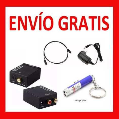 Envío Gratis Convertidor Audio Digital Toslink Rca + Regalos en Web Electro