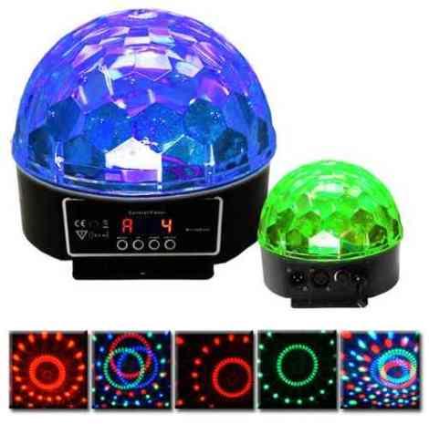 Esfera Luz Disco 5 Colores (dmx) Crystal Ball Nueva Edicion. en Web Electro