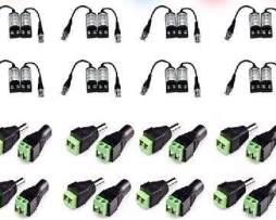 Kit 8 P Balun Transceptor Video Y Corriente Utp Cctv Camaras