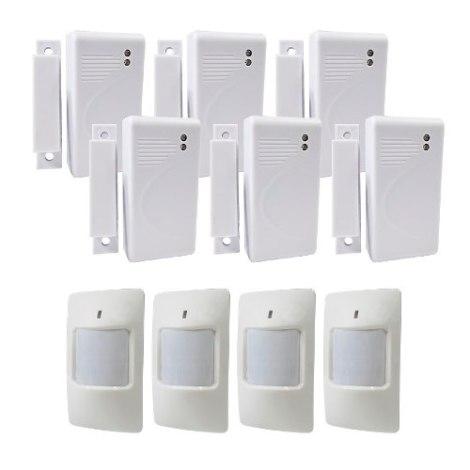 Kit De 10 Sensores Inalambricos 433mhz Para Alarma Casa Nego en Web Electro