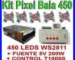 Kit Led Pixel Bala 450 Ws2811 +fuente 5v200w +t1000s Ledshop en Web Electro