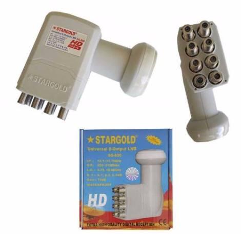 Lnb Universal Ku 8 Salidas Stargold 9750 A 10600