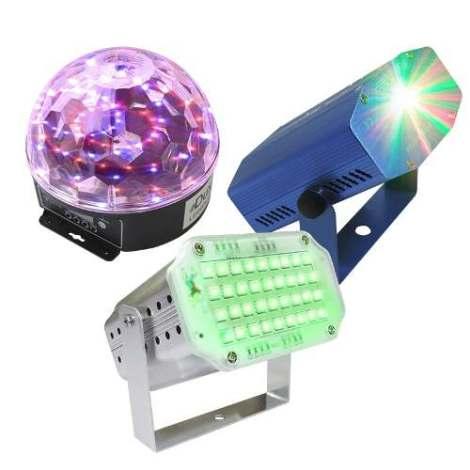 Paquete De Luces Leds Audio Rítmicas Efectos Bola Led Laserm en Web Electro